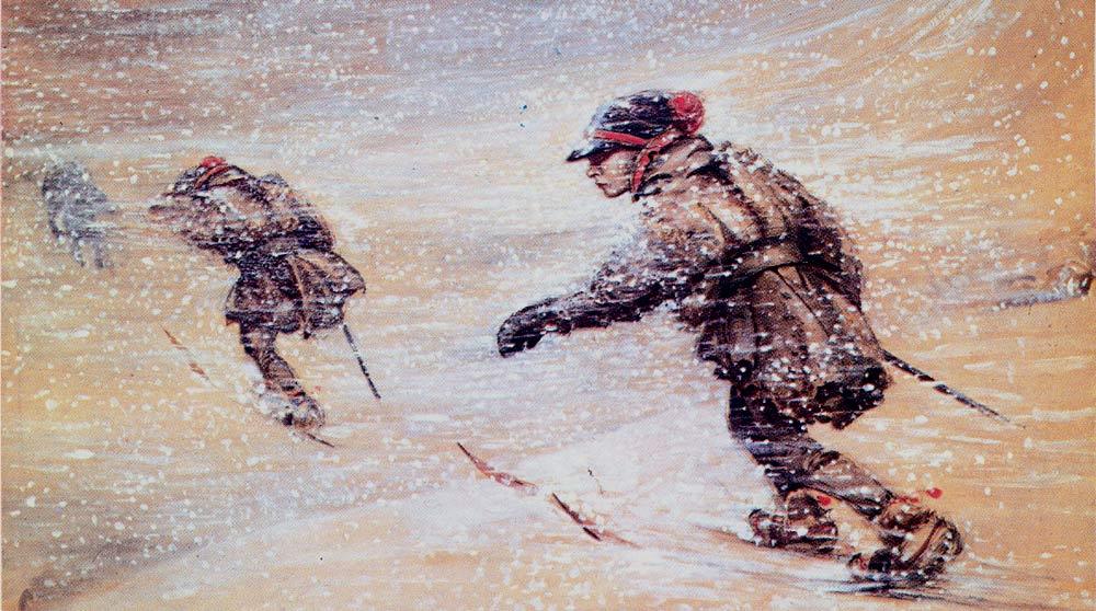 Лапландия, снежный шторм.