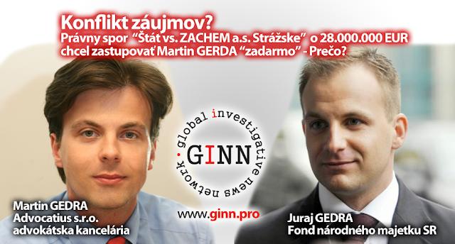 Advocatius, FNM, Martin Gedra, Juraj Gedra. Konflikt záujmov?