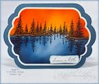 Airbrushed Lake Scene