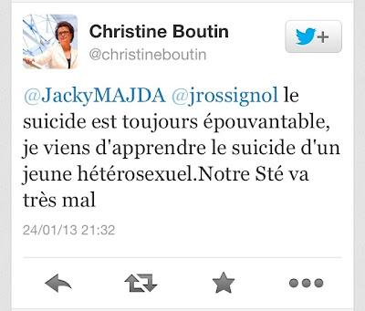 Christine Boutin suicide