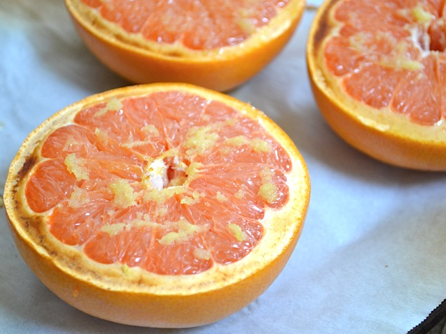 honey ginger broiled grapefruit - Budget Bytes