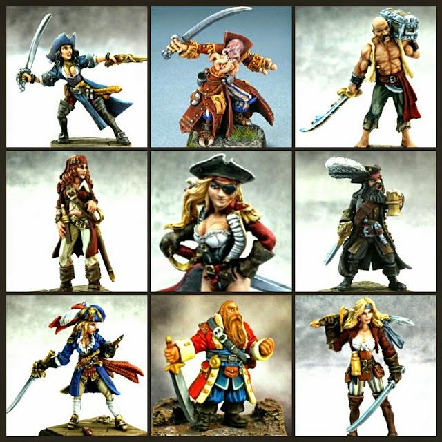 miniaturas de piratas de reaper miniatures