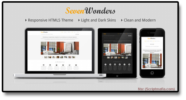 Themeforest SevenWonders – Clean Responsive WordPress Theme