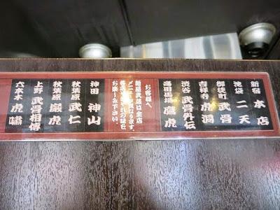 麺屋武蔵の各店舗の案内