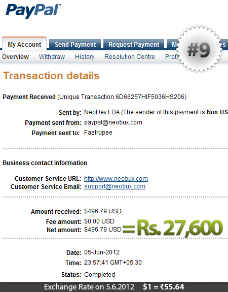 Neobux Payment Proof 9