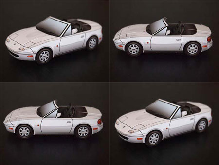 Mazda MX5 Eunos Roadster Papercraft
