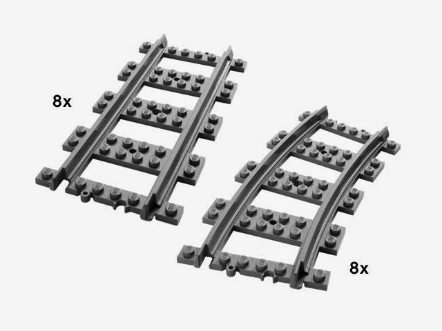 7896 レゴ ストレート&カーブレール