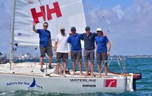 Team Helly Hansen sailing J/24 Midwinters- Miami, FL