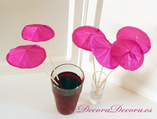 Sombrillas para Decorar Bebidas hechas a mano