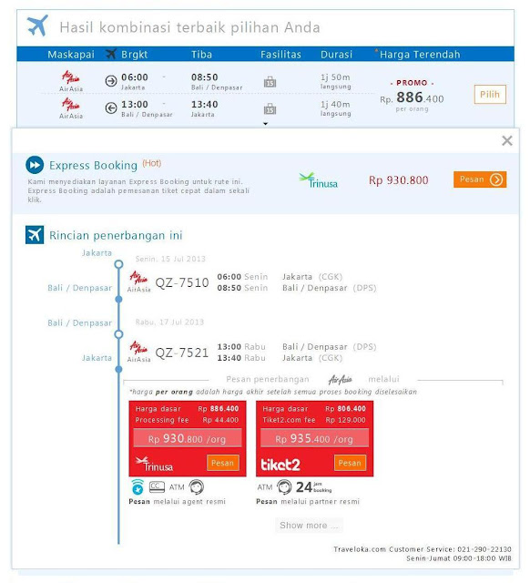 Beli Tiket Air Asia di Traveloka