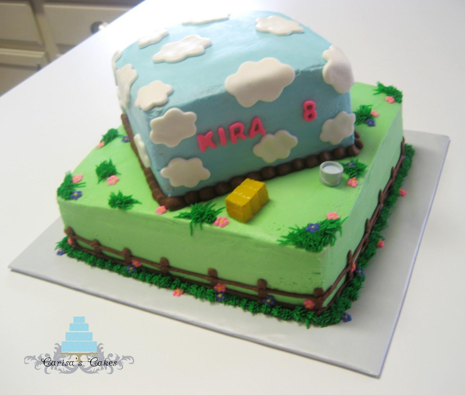 Themed Cake For Birthday : Carisa s Cakes: Horse Themed Birthday Cake
