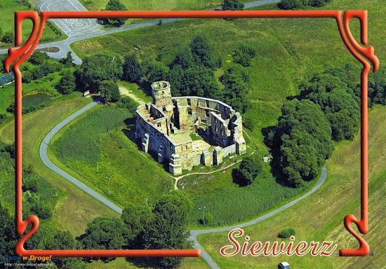 pocztówka z zamku siewierz