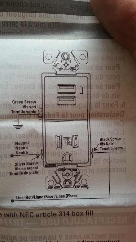 Wiring diagram for an outlet