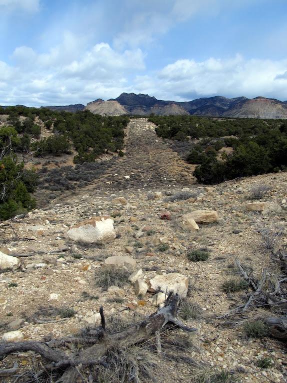 Gas pipeline near Mead's Rim