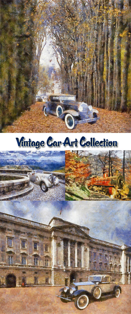 Stock Photo: Vintage Car Art Collection