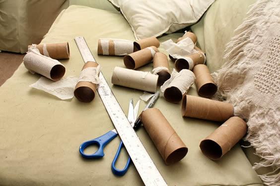 reciclagem de rolos de papel higienico