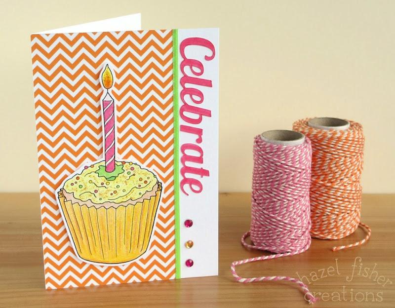 Celebrate Citrus Cake Card diy tutorial hazel fisher creations 1b
