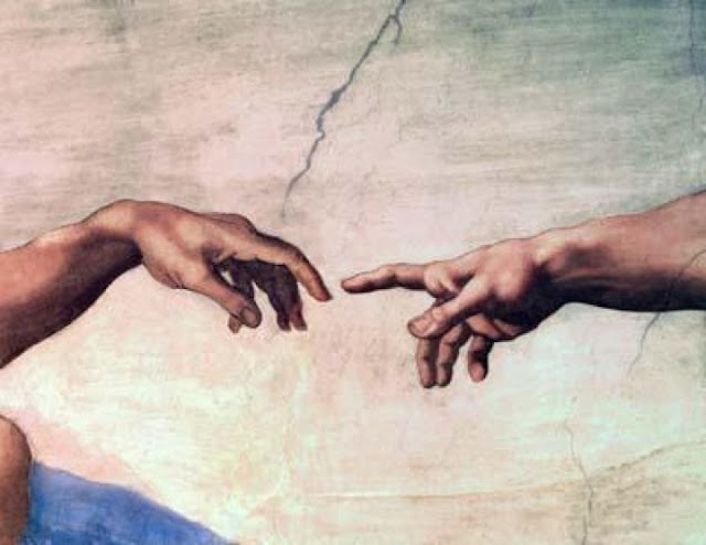 Hand of God, creating Adam