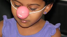 Pretend Pig Nose using a Plastic Easter Egg