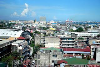 cebu city downtown skyline coast side top view photo 2011