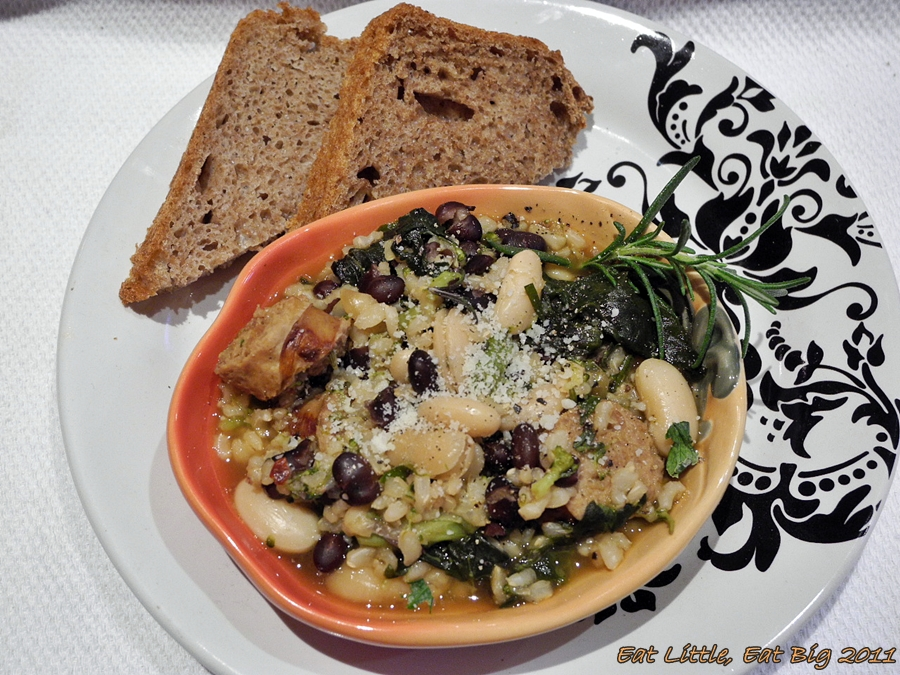 Brown Rice And Greens Soup With Turkey Sausage Recipes — Dishmaps
