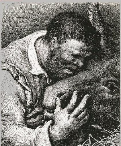 Sancho Panza y su asno