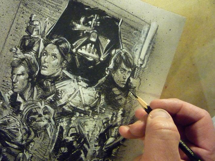 Star Wars Original Art © 2013 Jeff Lafferty