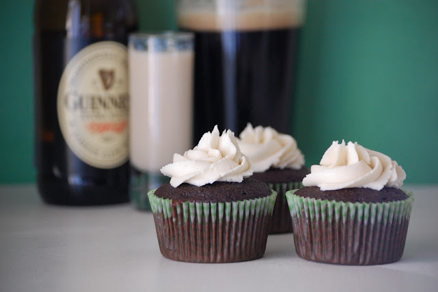guinness cake, baileys buttercream