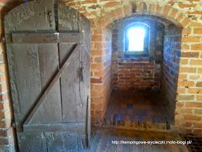 Na zdjęciu zamek Joannitów w Łagowie, wnętrze wieży widokowej
