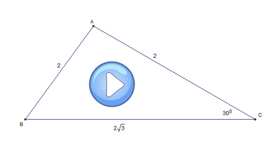 [Video] Hệ thức lượng trong tam giác- Giải tam giác-Hình học 10<br />