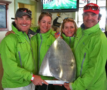 J/70 MUSE sailing team at Charleston Regatta- Joe B, Heather, Julia & Stu J