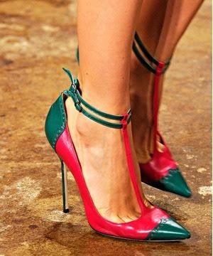 sivri burun, ince topuklu ayakkabı modeli