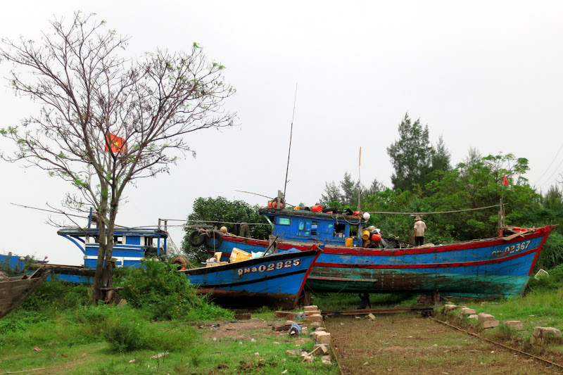 Boats being repaired