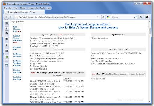 Belarc Advisor 8.2.7.0