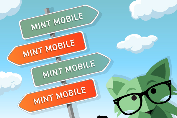 Mint Fox with signs to switch phone carriers and join Mint Mobile