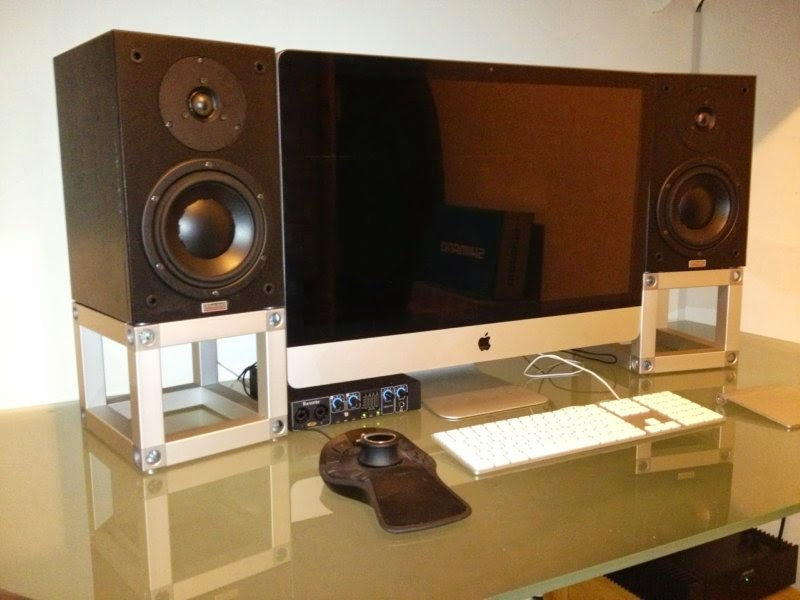 Diy home theatre speaker stands Home decor ideas