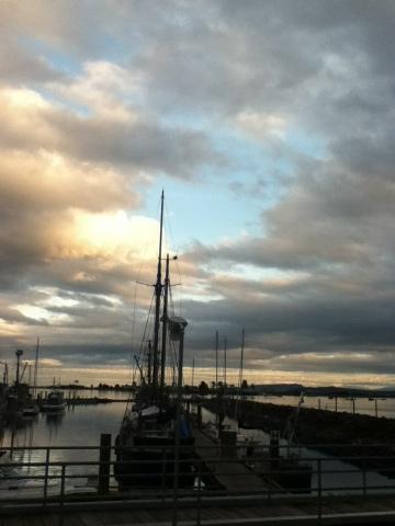 beautiful sunset at marina