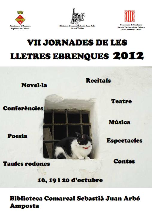 Cartell Jornades de Lletres Ebrenques a Amposta 2012