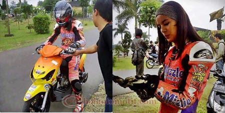 Sabrina Lady Joki Drag Bike Cantik Asal Bandung