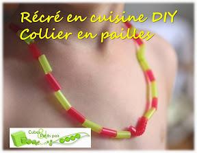 DIY collier bracelet en pailles