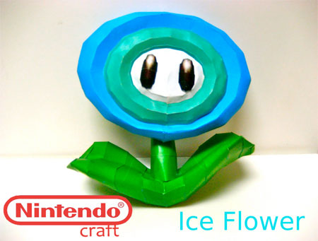 Super Mario Galaxy Ice Flower Papercraft