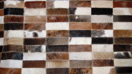 The Patchwork Cowhide Rug or Carpet