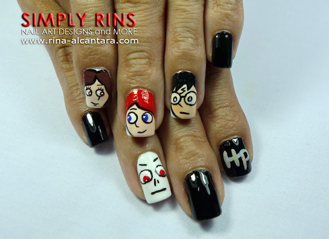 Harry Potter Nail Art Design 04