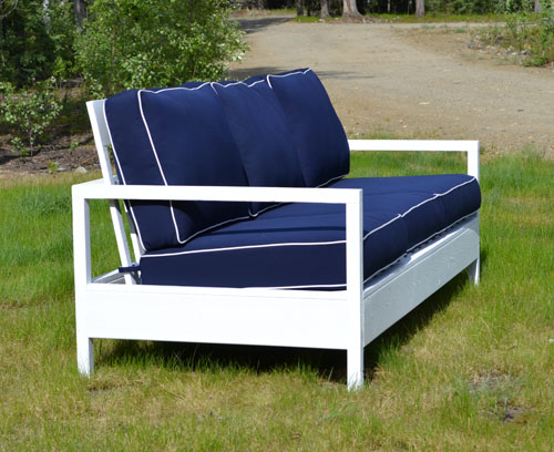 Diy Outdoor Furniture Couch ana white | simple white outdoor sofa - diy projects