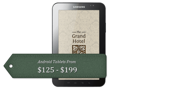 Hotel App on Android tablets