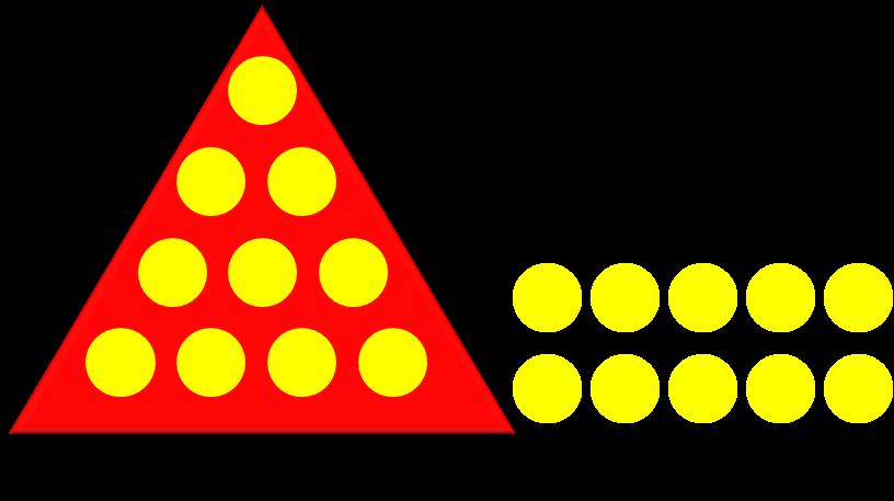 Рисунок с треугольниками и кружками