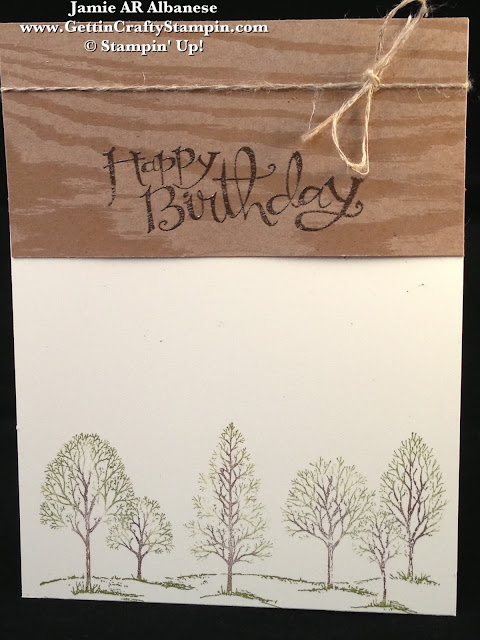Gettin Crafty Stampin with Jamie Natural Birthday – Nature Birthday Card