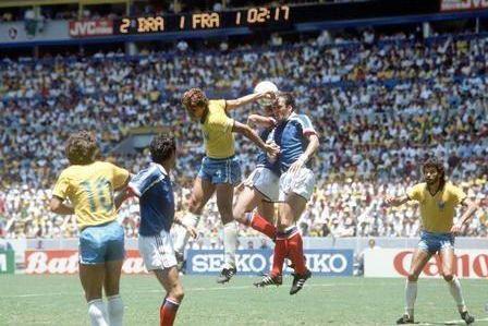 Football retro 1 4 finale cm 1986 france br sil 1 1 ap - Finale coupe du monde 1986 ...