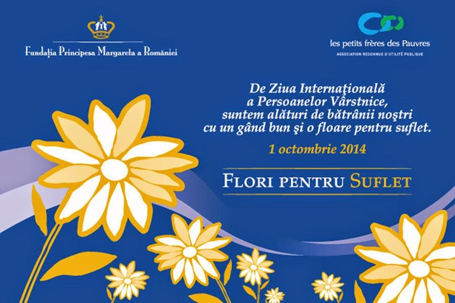 Flori pentru suflet - 5000 de flori oferite seniorilor cu ocazia Zilei Internaționale a Persoanelor Vârstnice de către voluntarii Fundației Principesa Margareta a României