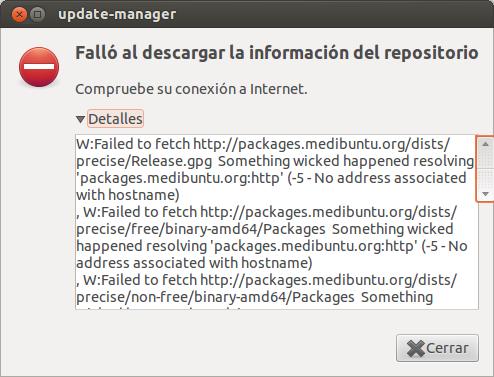 Falló repositorio Medibuntu en el Gestor de actualizaciones